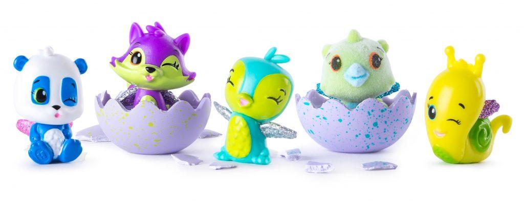 5 figurines hatchimals