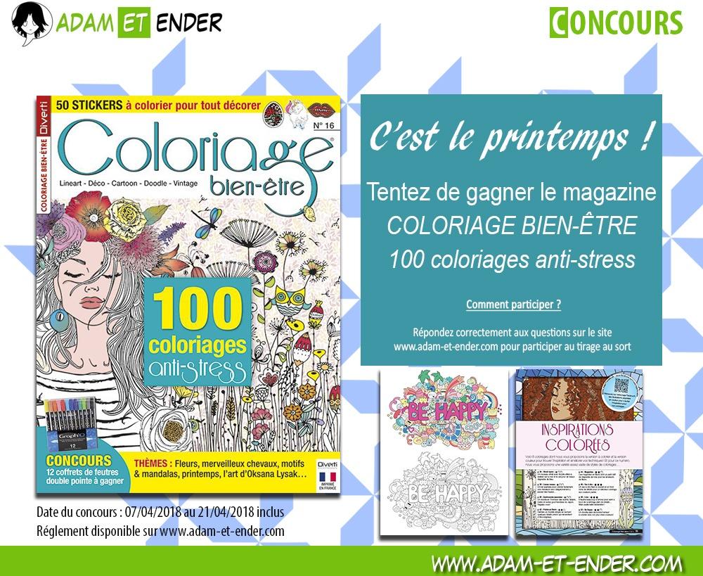 Coloriage Anti Stress Magazine.Concours Tentez De Remporter Le Magazine Coloriage Bien