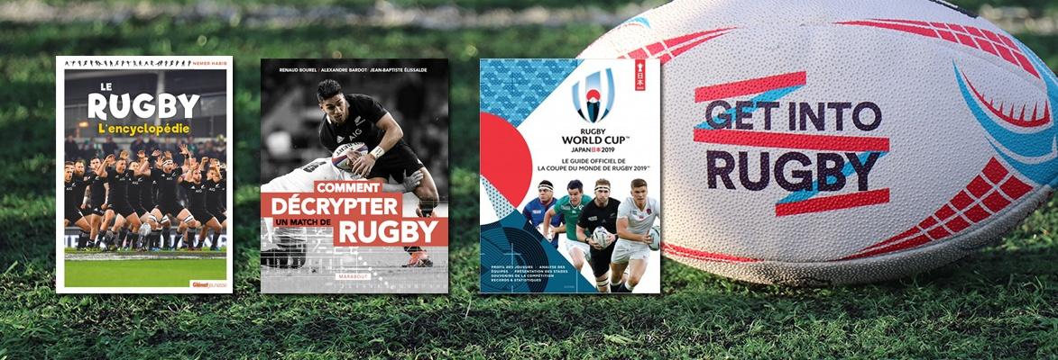3 livres pour vivre pleinement La Coupe du Monde Rugby 2019 !
