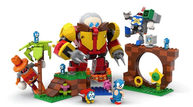 LEGO : Sonic le hérisson déboule dans sa Green Hill Zone tout en briques