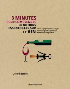Couverture - 3 minutes Vin - Le Courrier du livre